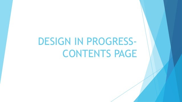 contents page design in progress