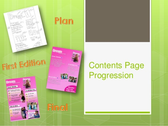Contents PageProgression