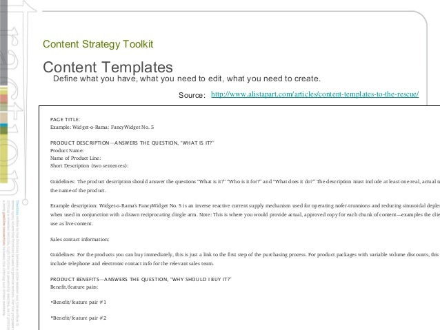 A Content Strategy Toolkit