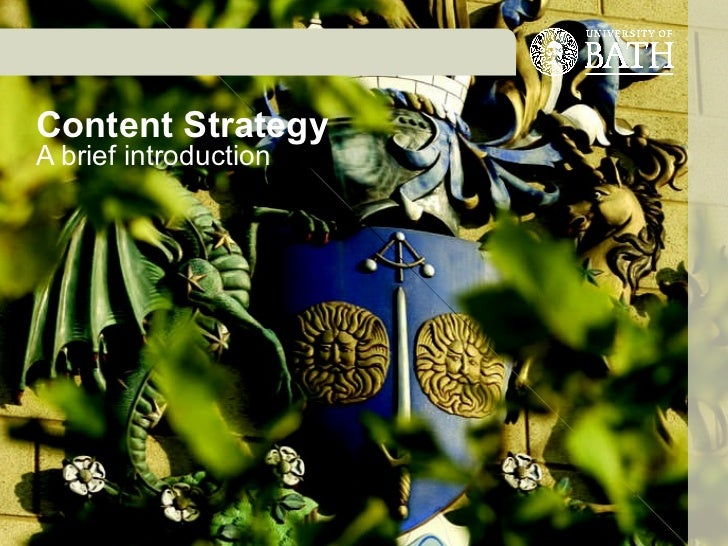 Content Strategy A brief introduction Jenni Taylor 7 June 2011