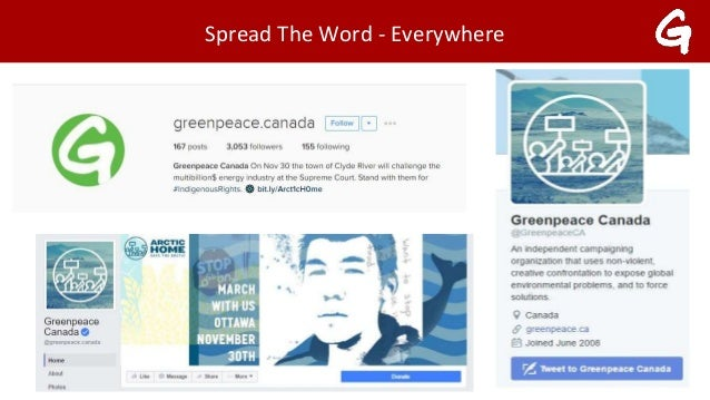 Content Strategy - Greenpeace Canade