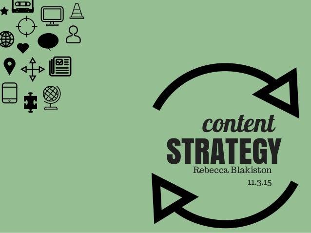 content STRATEGYRebecca Blakiston 11.3.15