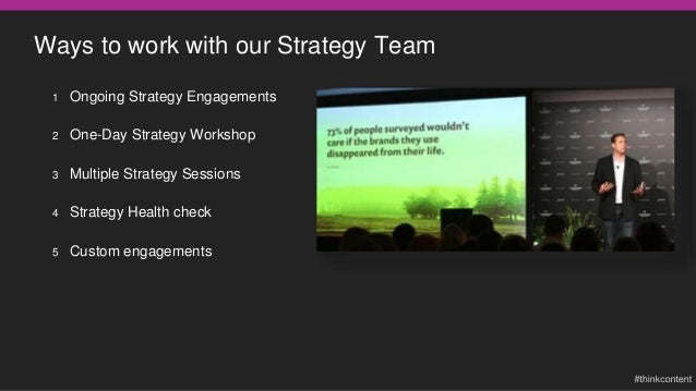 Sample content strategy exercises we'll help you with