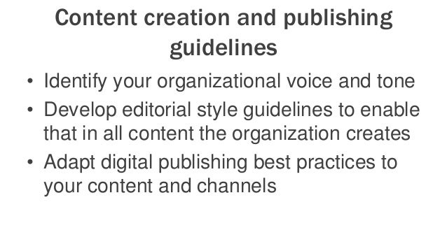 Content Promotion Framework • Organization-wide content calendar • Data-driven decisions – start gathering metrics regular...