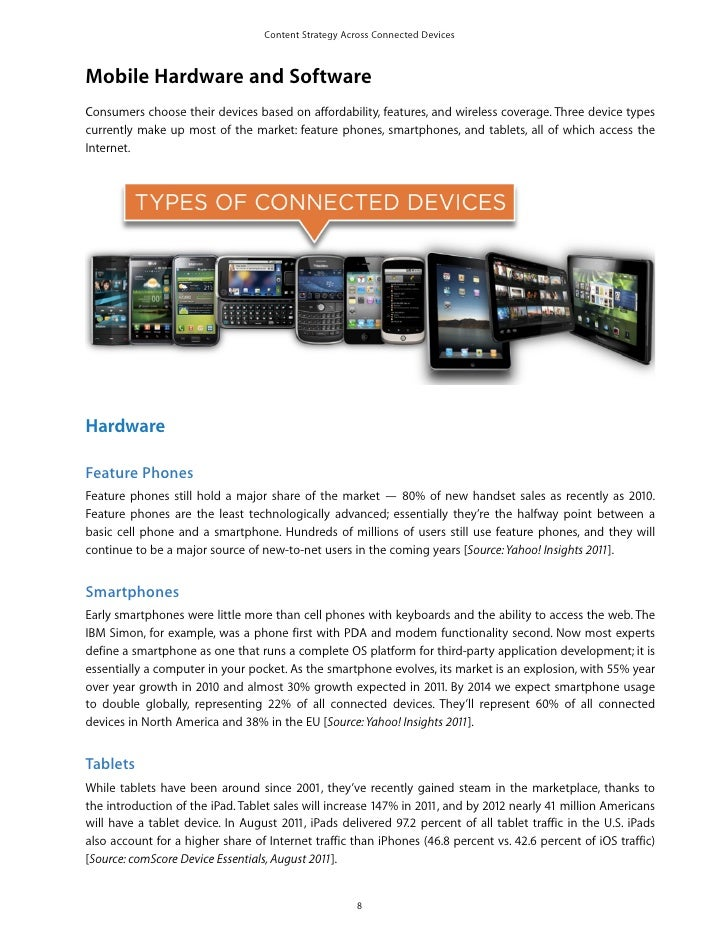 Content Strategy Across Connected DevicesMobile Hardware and SoftwareConsumers choose their devices based on affordability...