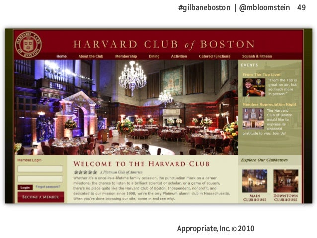 #gilbaneboston | @mbloomstein 49 Appropriate, Inc. © 2010