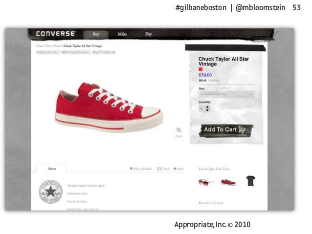 #gilbaneboston | @mbloomstein 53 Appropriate, Inc. © 2010