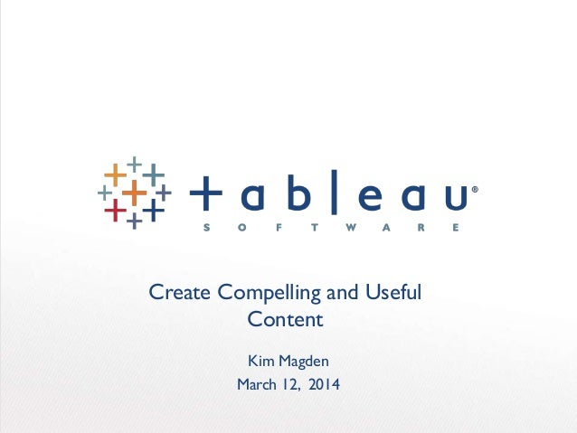 Create Compelling and Useful Content Kim Magden March 12, 2014