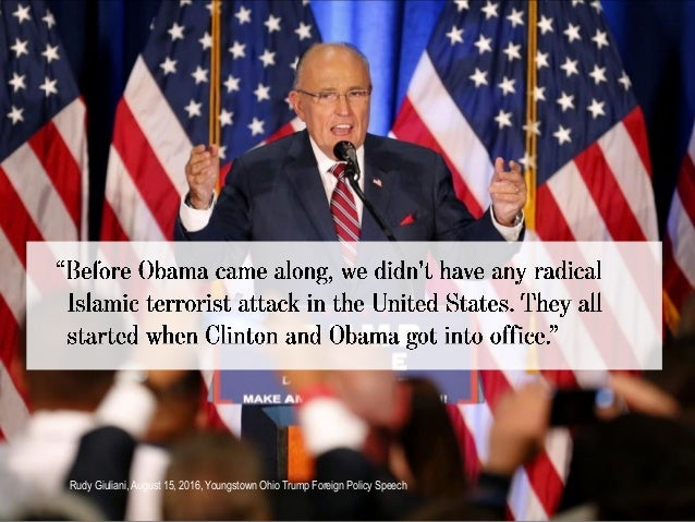 Rudy Giuliani, August 15, 2016, Youngstown Ohio Trump Foreign Policy Speech