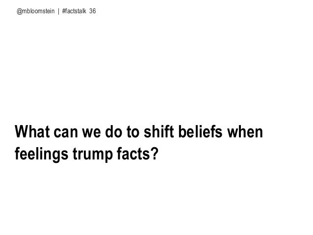How we form our beliefs matters more than what we believe @mbloomstein | #factstalk Cultural predisposition confirmation b...