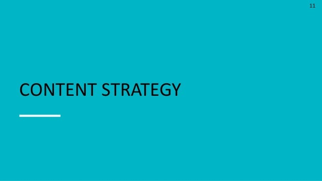 11 CONTENT STRATEGY