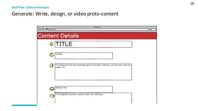 18 Mad*Pow   @marsinthestars Generate: Write, design, or video proto-content