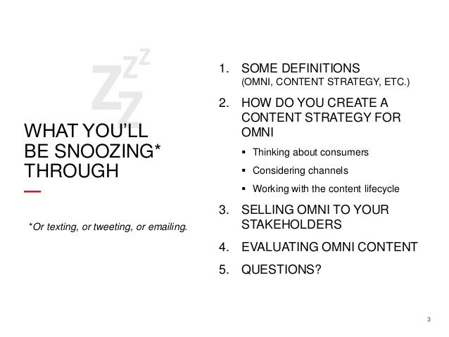Content Strategy for Omnichannel by Rebecca Schneider and Kevin P Nichols 2013 CSA Keynote Slide 3