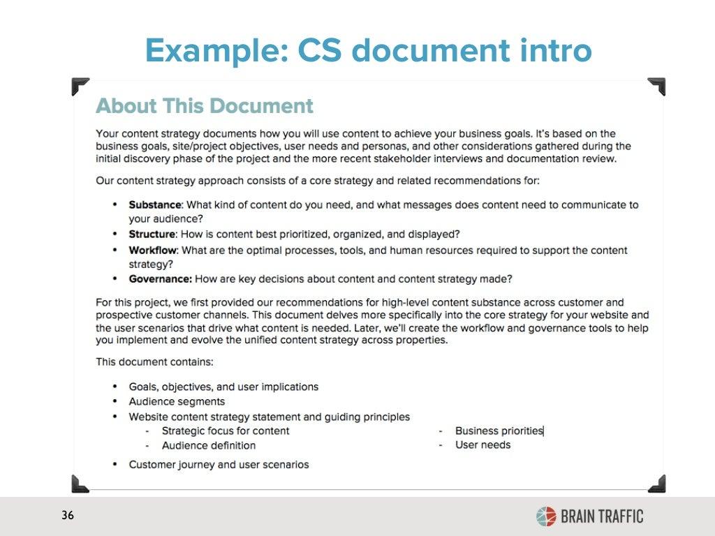 36 Example: CS document intro