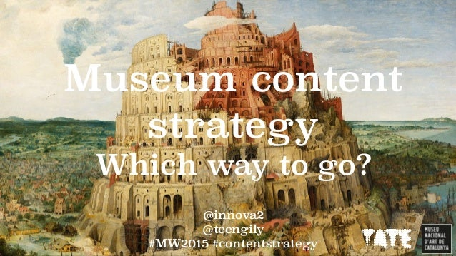 @innova2 @teengily #MW2015 #contentstrategy Museum content strategy Which way to go?