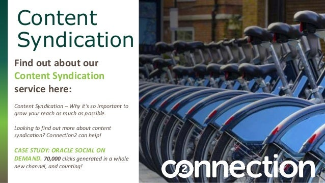 Content  Syndication  Find out about our  Content Syndication  service here:  Content Syndication – Why it's so important ...