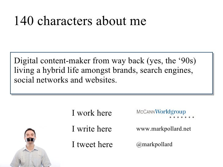 140 characters about me  Digital content-maker from way back (yes, the '90s) living a hybrid life amongst brands, search e...