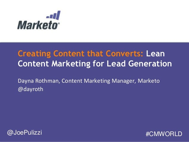 Creating Content that Converts: Lean Content Marketing for Lead Generation