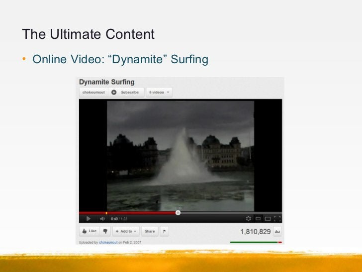 """The Ultimate Content• Online Video: """"Dynamite"""" Surfing"""