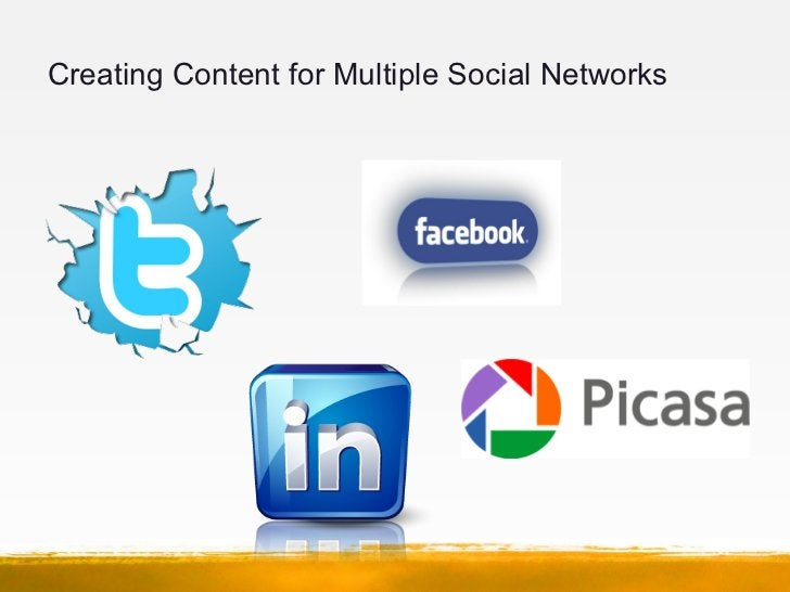 Creating Content for Multiple Social Networks
