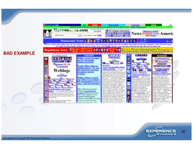 BAD EXAMPLEAll contents © Copyright 2013 Experience Dynamics22