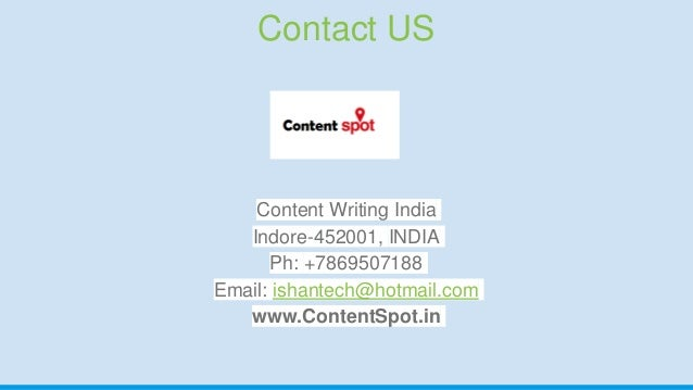 Content Writing services indore india by contentspot