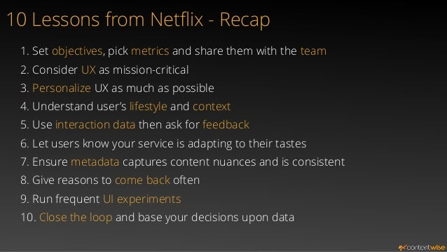 Netflix solutions are applicable (and applied) at… Netflix  Other services may include S-VOD  as well as Linear TV, DVR,  ...