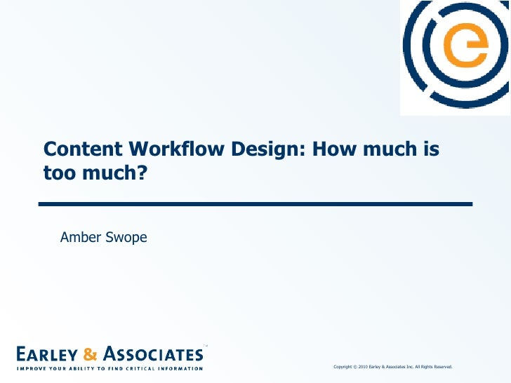 Content Workflow Design: How much is too much? Amber Swope