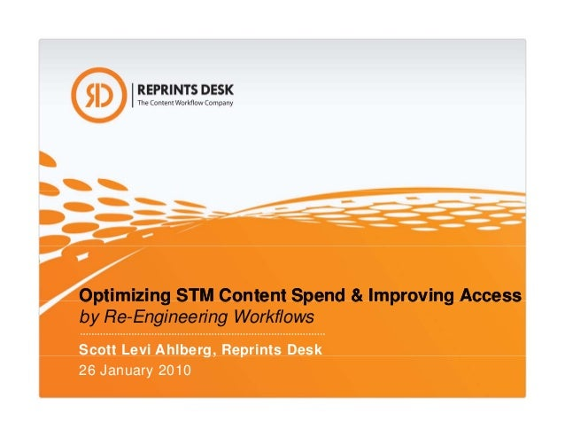 Optimizing STM Content Spend & Improving AccessOptimizing STM Content Spend & Improving AccessOptimizing STM Content Spend...