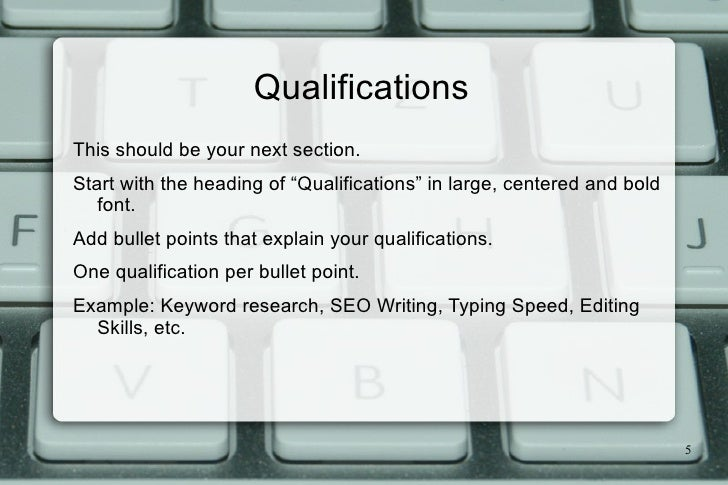 ... 5. Start Your Resume ...  Content Writer Resume