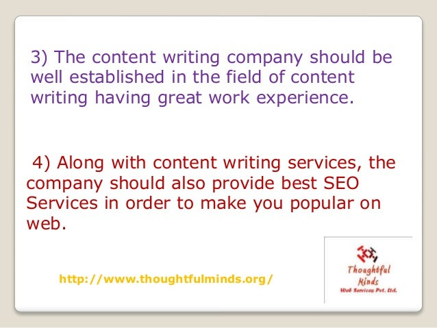 Content writing companies india
