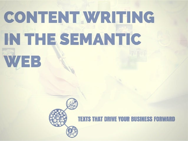 Content Writing in the Semantic Web (Course contents)