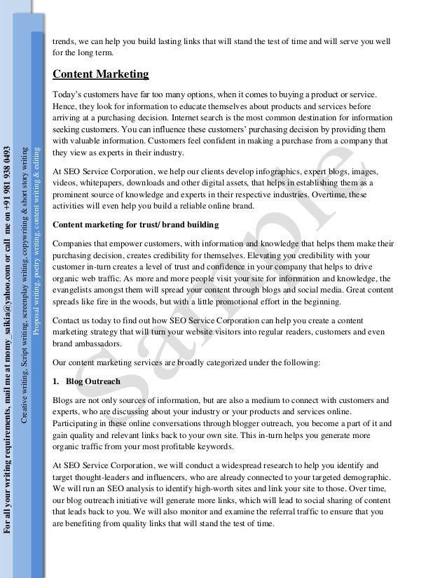 Report Writing Samples For Students Simple Report Sample Feature Film Content Writing Sample