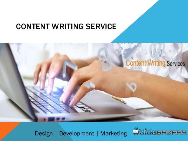 CONTENT WRITING SERVICE Design | Development | Marketing