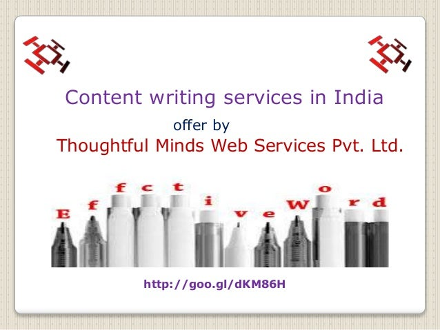 Writing service in india