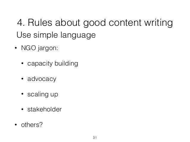 Writing good website content