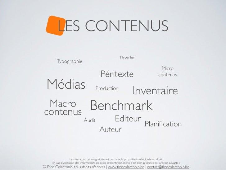 LES CONTENUS                                                               Hyperlien        Typographie                   ...