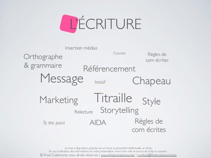 L'ÉCRITURE                        Insertion médias                                                                    Conc...