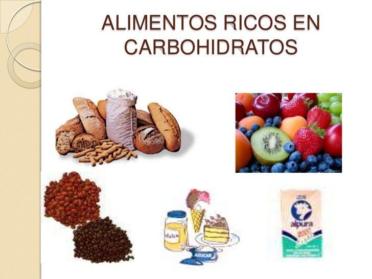 Conteo avanzado de carbohidratos - Alimentos ricos en carbohidratos ...