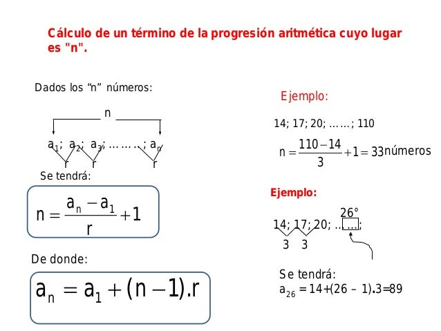 Conteo de numeros(progresión aritmética)