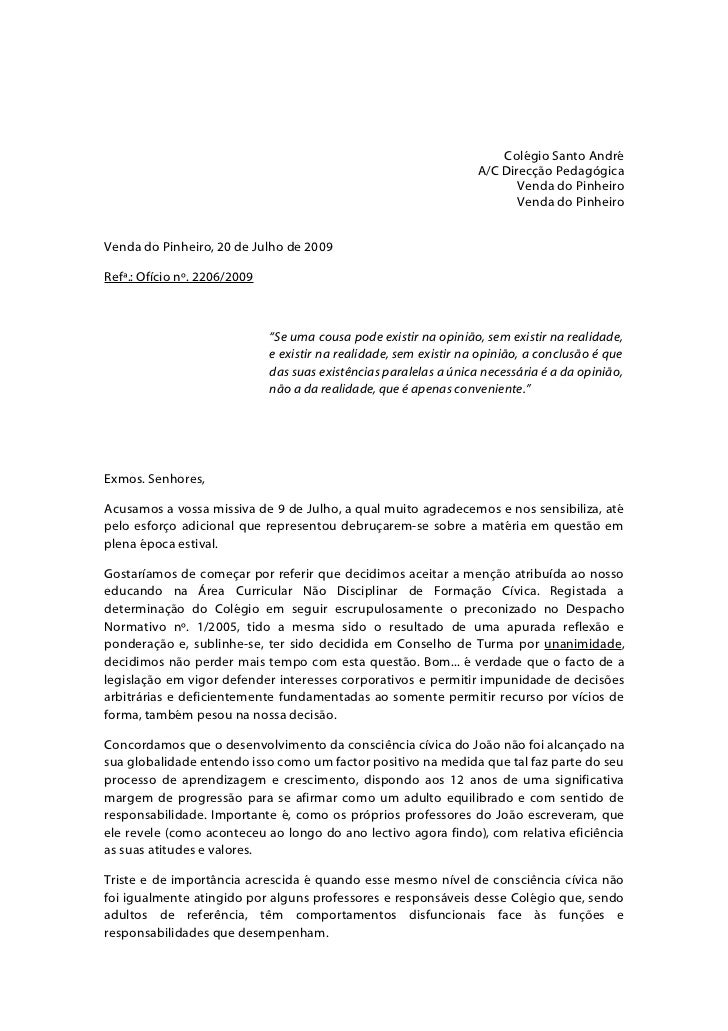 Colégio Santo André                                                                     A/C Direcção Pedagógica           ...