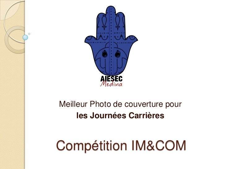 Meilleur Photo de couverture pour     les Journées CarrièresCompétition IM&COM