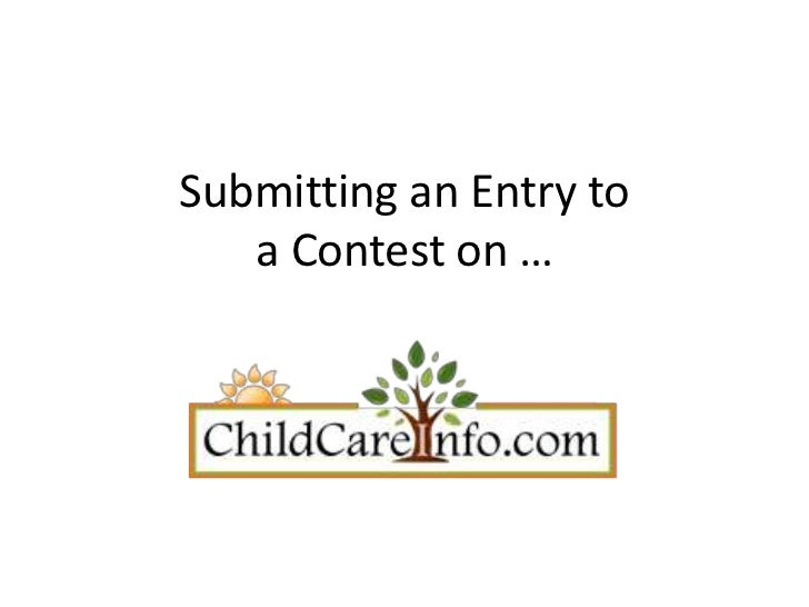 Submitting an Entry to   a Contest on …