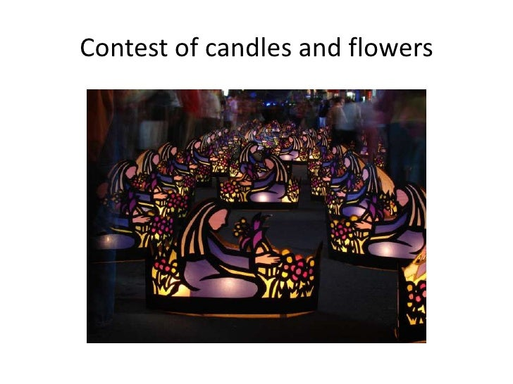 Contest of candles and flowers