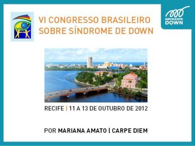 Conteudo acessivel - VI Congresso Brasileiro Sobre Síndrome de Down