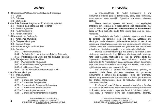SUMÁRIO                                                         INTRODUÇÃO1 - Organização Político Administrativa da Feder...