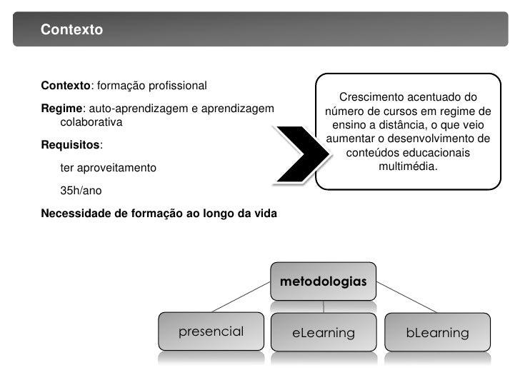 Conteúdos multimédia para formação e eLearning Slide 3