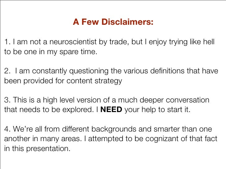 A Few Disclaimers:  1. I am not a neuroscientist by trade, but I enjoy trying like hell to be one in my spare time.  2. I ...