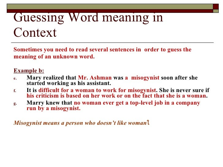 guessing meaning from context pdf