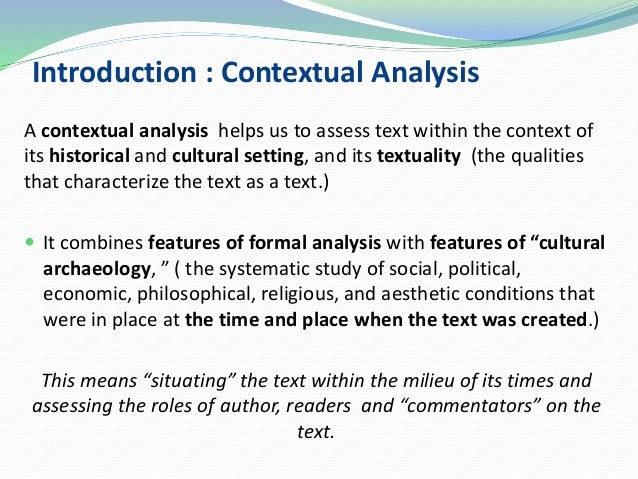 context analysis template - context introduction to contextual analysis